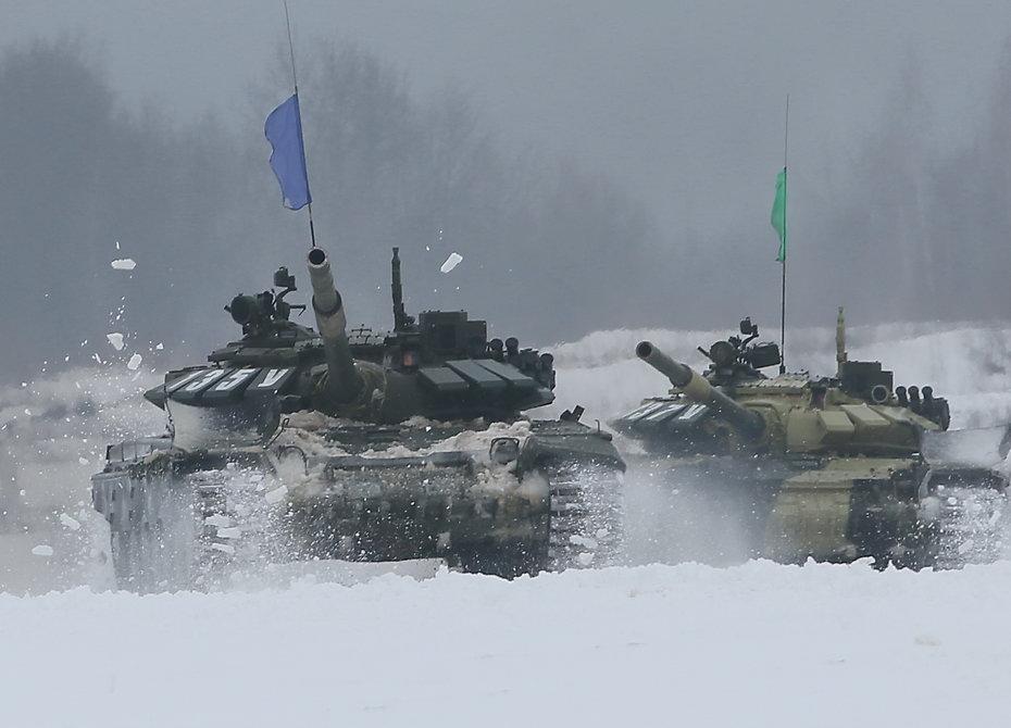 В Подмосковье провели «Танковый биатлон» по новым правилам (фото)