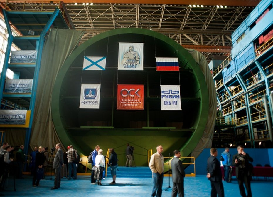 Корпус подводного ракетоносца «Князь Олег» испытали нагерметичность