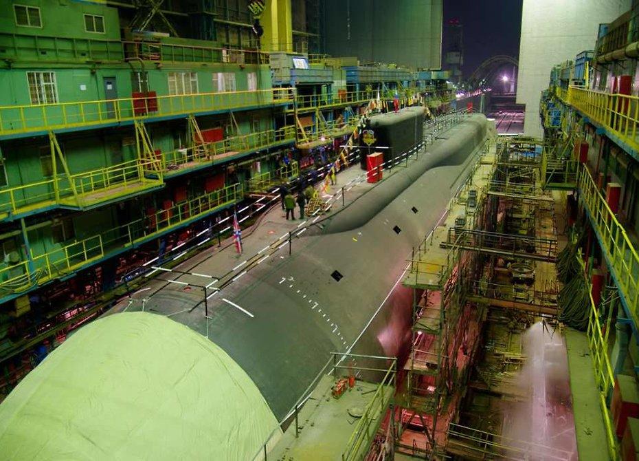 ВСеверодвинске заложат последнюю атомную субмарину всерии из 8-ми «Бореев»