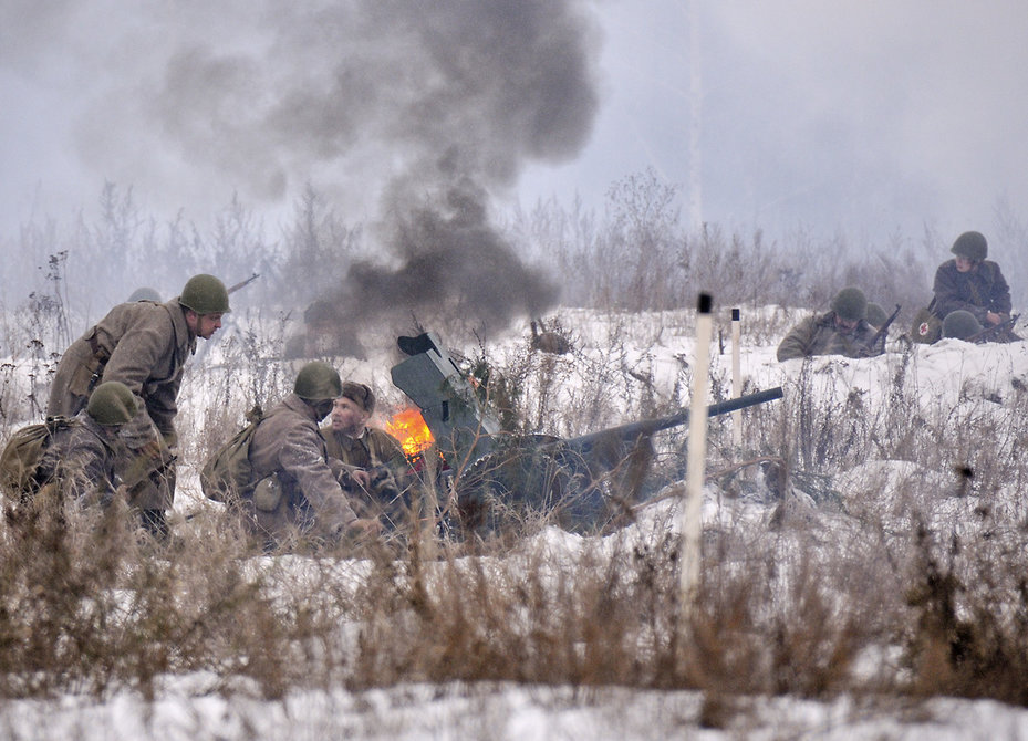 Вподмосковной реконструкции штурма Рейхстага участвуют 100 каскадеров изкино