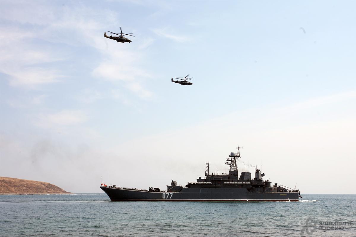 Морпехи ТОФ атаковали «врага» с моря и воздуха